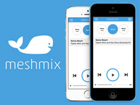 Screenshot of Meshmix website