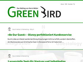 Screenshot vom Blog Green Bird