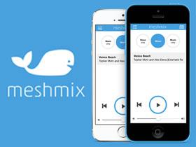 Screenshot of Meshmix website