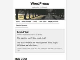 Screenshot von WordPress Theme TwentyXS